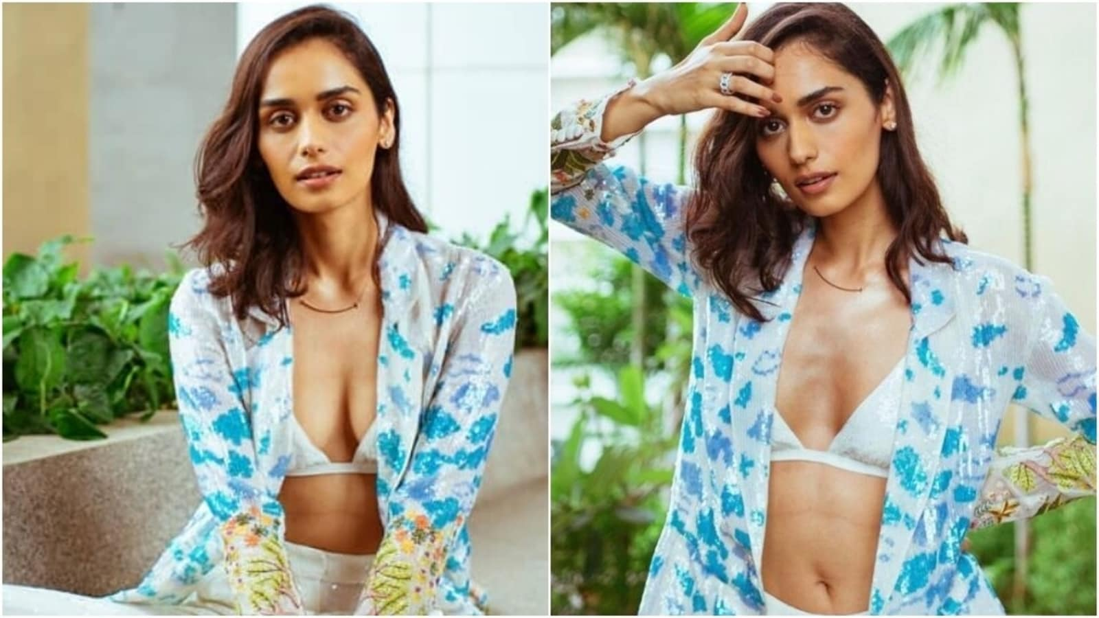 Manushi Chhillar aces the recent summer time look in bralette and pants with vibrant shrug