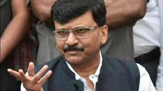 Shiv Sena MP Raut claimed that 'mobile phones have now become virtual bombs' planted to keep a tab on the movement of its opponents. (Kunal Patil/HT Photo)