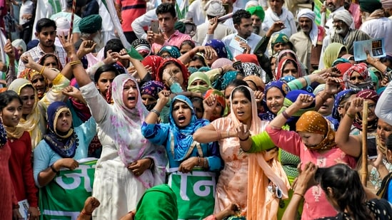 It claimed that the last eight months witnessed several lakh farmers from almost all states of India joining the protests.(PTI Photo)(PTI)