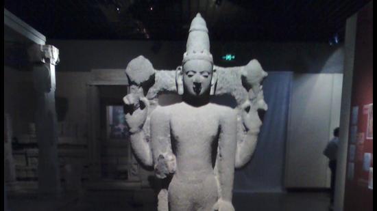 An idol of Vishnu found in Quanzhou, now housed at the Quanzhou Maritime Museum. (HT PHOTO)