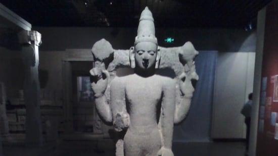 An idol of Vishnu found in Quanzhou, now housed at the Quanzhou Maritime Museum. (HT PHOTO)(HT_PRINT)