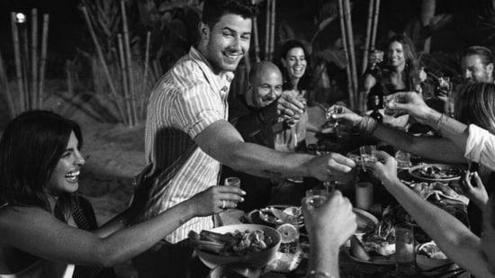 Priyanka Chopra and Nick Jonas with their friends in Miami.
