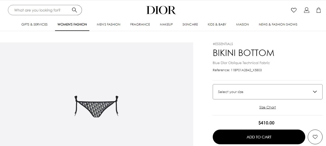 डायर से तारा सुतारिया की बिकनी बॉटम (dior.com)