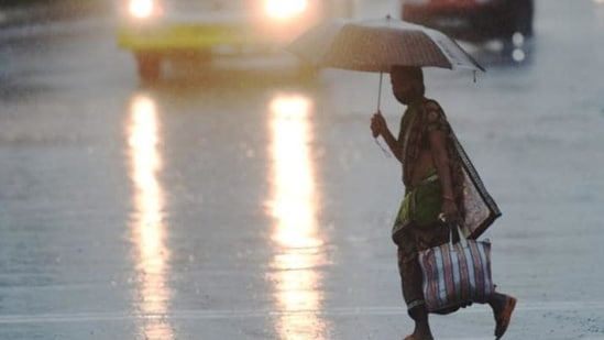 The MeT office has predicted heavy rains at isolated places and extremely heavy rains at some places in Kota, Jaipur and Ajmer divisions on Monday.(Satish Bate/HT file photo. Representative image)