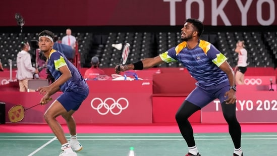 Olympics: India men's doubles pair of Chirag Shetty and Satwiksairaj Rankireddy lose second Group A Play Stage match.(AP)