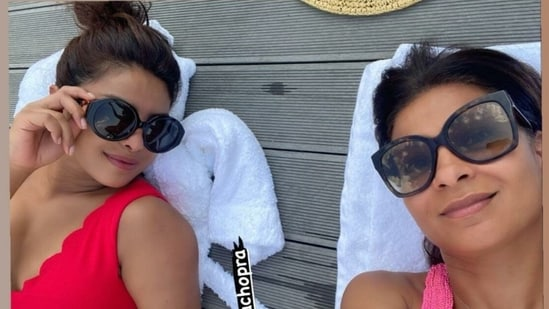 Priyanka Chopra spends the weekend with her friend.