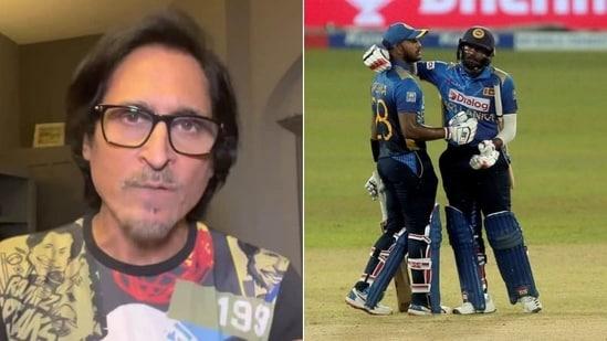 Ramiz Raja lashed out at the Sri Lankan team(HT Collage)