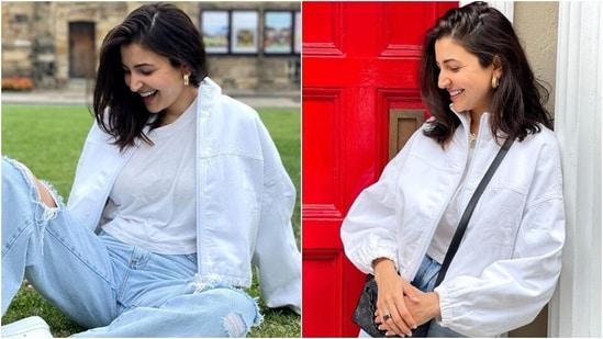 Anushka Sharma enjoys a day out in bag worth more than <span class='webrupee'>₹</span>2 lakh, chic denims and crop top(Instagram/@anushkasharma)
