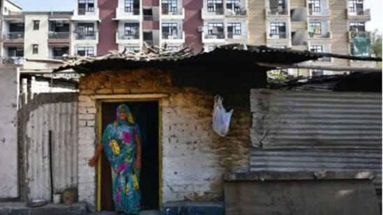 A view of unauthorized Shree Sai Kunj Colony at Vasant Kunj in New Delhi.(HT photo/Sanchit Khanna)