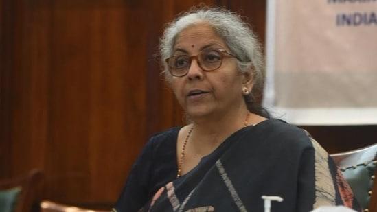 Finance minister Nirmala Sitharaman.(Twitter/@nsitharamanoffc)