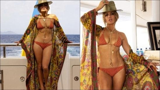 Jennifer Lopez' steamy birthday look in a printed bikini, floral kaftan are too hot to handle(Instagram/jlo)