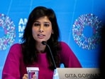 Gita Gopinath, chief economist at the International Monetary Fund (IMF).(Bloomberg)