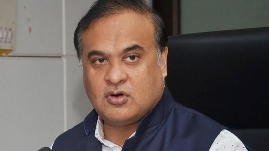 Assam chief minister Himanta Biswar Sarma on Tuesday visited Silchar Medical College and Hospital to meet the injured police personnel of the state. (PTI Photo)