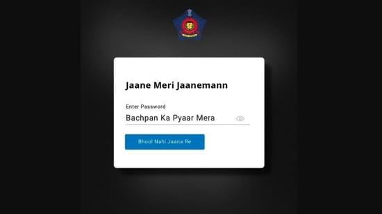 Mumbai Police posted this 'Bachpan ka Pyaar' post.