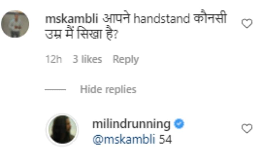 Screenshot of comments on Milind's post.
