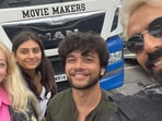 Arjun Rampal met his daughter Mahikaa's friends in London.