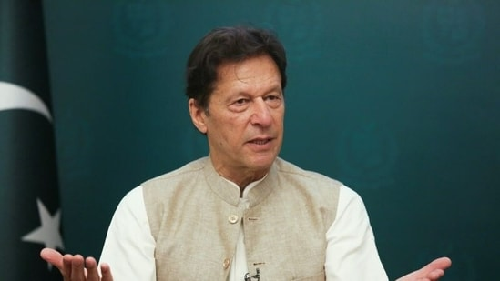Pakistan's Prime Minister Imran Khan gestures during an interview in Islamabad.(Reuters)