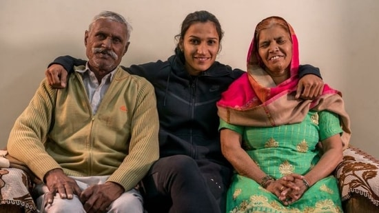 """Opening up about the difficult training she went through, """"Training would start early; we didn't have a clock, so mom would look at the sky to check if it was time to wake me. At the academy, it was mandatory for each player to bring 500 ml of milk. My family could only afford milk worth 200 ml; so I'd mix the milk with water and drink it.""""(Instagram)"""