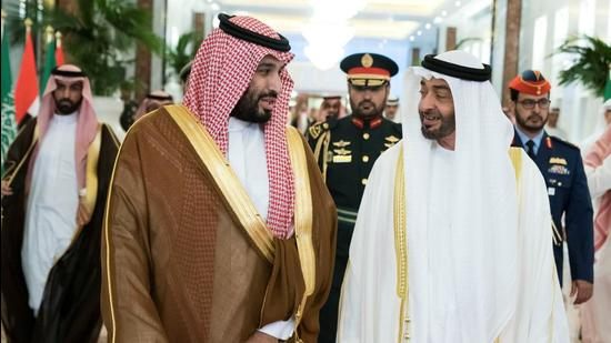 Till 2019, MbS and MbZ pursued a common agenda of curbing the al-Houthis of Yemen and isolating Qatar. However, lately, mutual differences have stymied both these campaigns (VIA REUTERS)