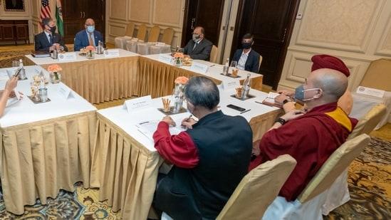 An image of the meeting US secretary of state Antony Blinken attended with civil society members. (Credit: Twitter@SecBlinken)