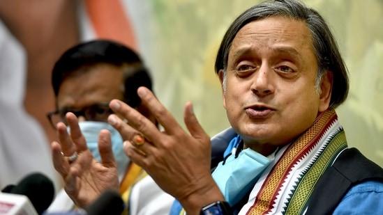 Congress MP Shashi Tharoor.(PTI)