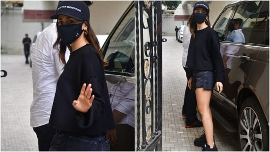 Alia left her locks open with the ensemble and chose minimal make-up to round it all off. What do you think of her trendy attire?(Varinder Chawla )