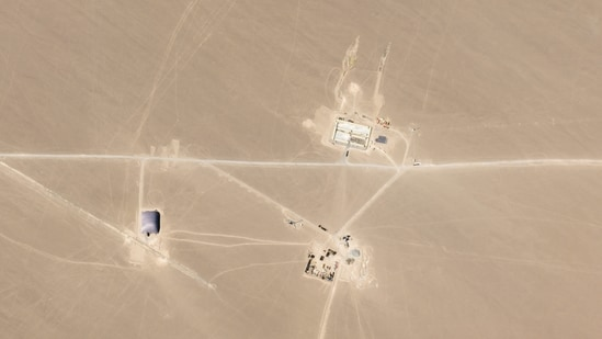 The high resolution images of the missile silo being constructed in China's Xinjiang province.(Twitter/@planet)