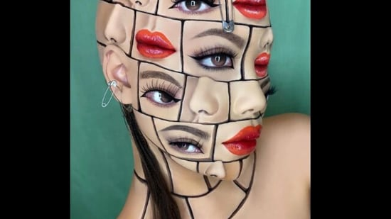 The image shows artist Mimi Choi with the makeup look.(Instagram/@mimiles)