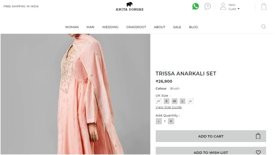 Trissa Anarkali Set(anitadongre.com)