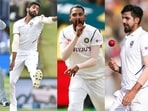 From left: Mohammed Shami, Jasprit Bumrah, Mohammed Siraj and Ishant Sharma. (Getty Images)
