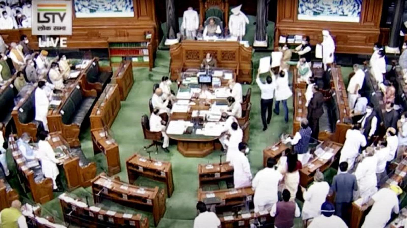 Saddened' over ruckus in House, Lok Sabha Speaker warns of strict action    Latest News India - Hindustan Times