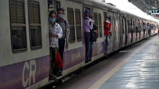No decision on allowing fully vaccinated people to travel by Mumbai local trains has been taken yet.(REUTERS)