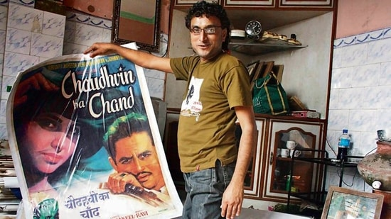 A factory supervisor's son, Shanky was a collector of Hindi movie posters—original and reprints.