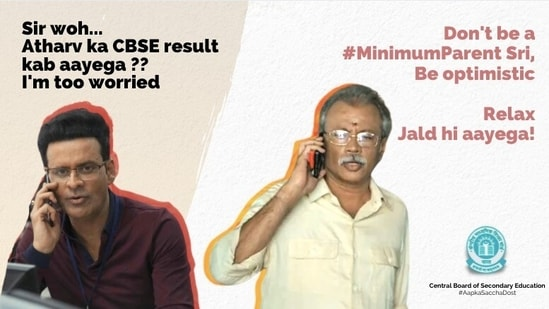 CBSE shared this Chellam sir meme addressed to the parents.(Twitter/@cbseindia29)