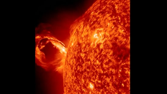 The image is taken from the viral share about the Sun by Nasa.(Instagram/@nasa)