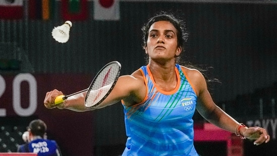 India's PV Sindhu advanced to the quarterfinal of Tokyo Olympics(PTI)