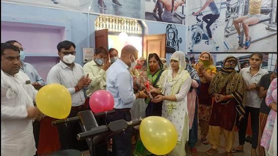 Gymnasium being inaugurated in Bijrol, Uttar Pradesh. (Sourced)