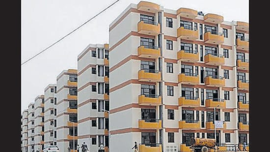 The facility is currently available for CHB housing schemes at Sectors 49, 51-A and 63 in Chandigarh. (HT Photo)