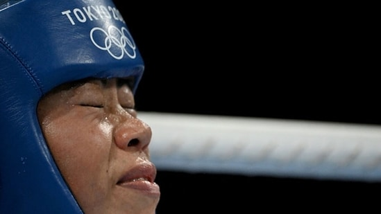 India's Mary Kom reacts. (Getty Images)