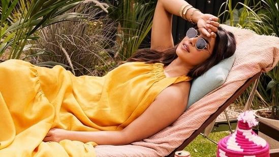 Priyanka Chopra channels her inner romantic diva in sleeveless maxi worth <span class='webrupee'>₹</span>39k(Instagram/@priyankachopra)