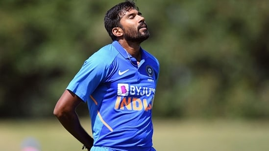 Sandeep Warrier in action for India A last year. (Getty Images)