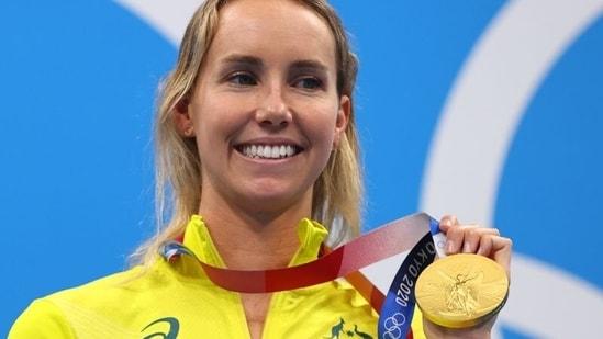 Tokyo 2020: Dazed Australian Emma McKeon wins women's Olympic 100m freestyle.(REUTERS)