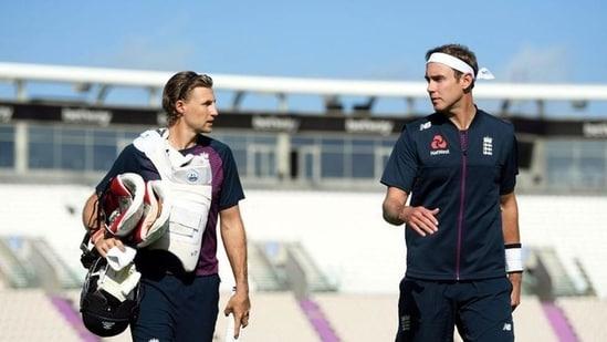 England's Joe Root and Stuart Broad: File photo(REUTERS)