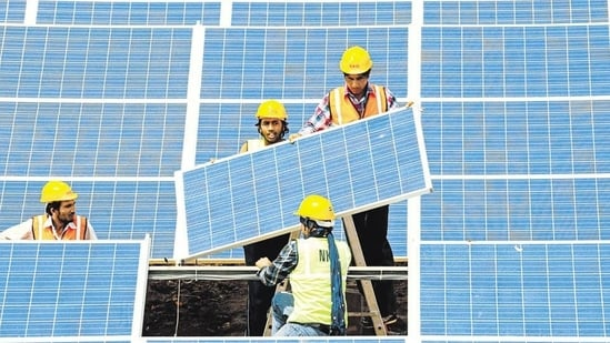 India has a domestic manufacturing capacity of only 3GW for solar cells and 15GW for solar modules and heavily depends on imports from China.(PICTURE FOR REPRESENTATIONAL PURPOSES ONLY)