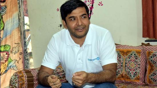 Superpro.ai founder Gaurav Tripathi. (HT PHOTO)