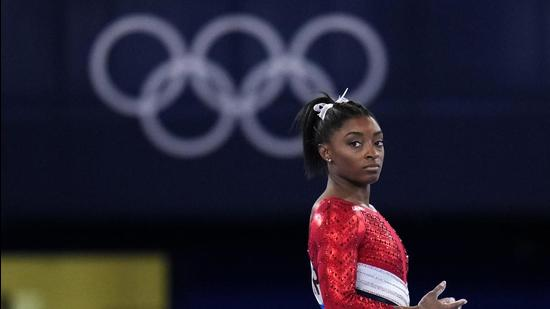 Biles's decision to pull out of the Olympics does more than shine a welcome spotlight on mental health (AP)