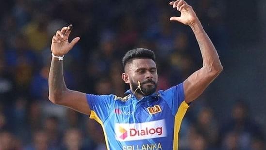 Sri Lanka medium pacer Isuru Udana.(Twitter)
