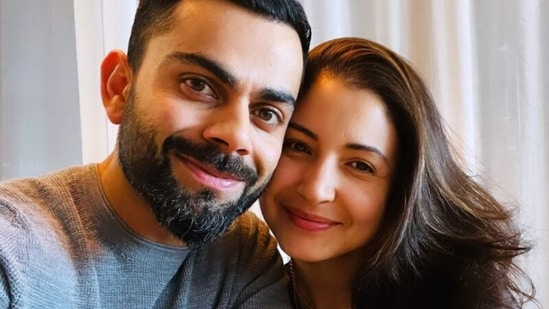 Virat Kohli and Anushka Sharma are seen flashing big smiles in their new picture together.