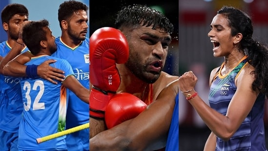 All eyes will be on the Indian men's hockey team, boxer Satish Kumar and shuttler PV Sindhu on Sunday. (Getty Images)