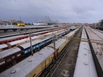Trains parked at Howrah station. (File Photo)